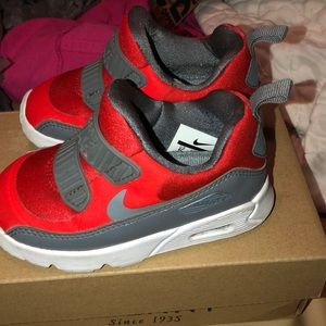 Shoes Size 6C Toddler; Red and Grey Nike's!